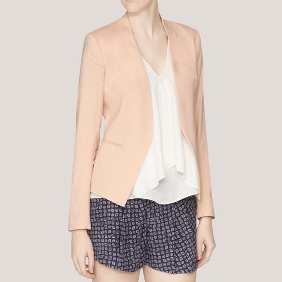 17553e247a Theory Jackets & Coats | Lanai Open Front Blazer In Pink | Poshmark